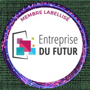Macaron membre labellisé Entreprise du Futur